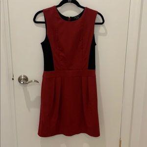 Theory maroon dress with pockets